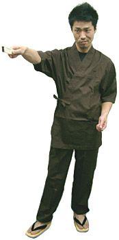 SN11253 作務衣シャツ /SN11258 作務衣【パンツ】/ #ブラウン