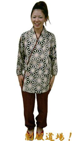 SN11276 作務衣シャツ#墨×紫 / このズボンは生産中止です。