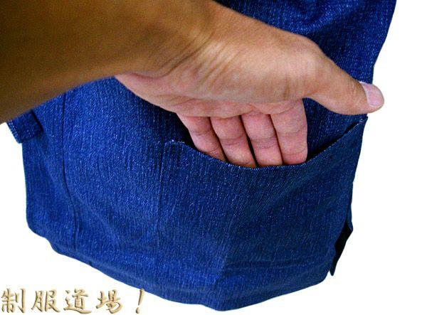こんな感じで上着のポケット付き / 色落ちするので洗濯する時は別洗いしてください!