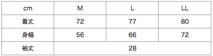 サイズ表 /  ※袖丈は「4223」のサイズになります。 /   3Lサイズは2枚からプラス500円(プラス消費税)で作れます!