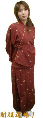 #花の丸・エンジ /二部式着物
