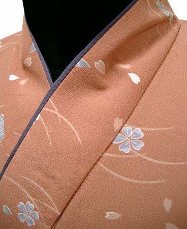 #桜と露芝 /二部式着物
