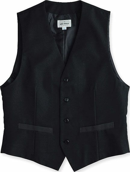 ブラック/メンズおしゃれな黒スーツベスト