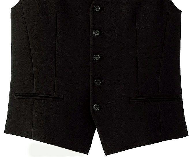 黒ベストのポケット部分