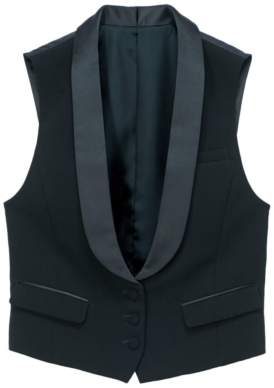 ブラック#B9/タキシード風レディースかっこいい高級スーツベスト