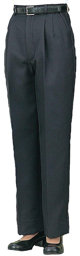 ブラック#C10/太めのレディース業務用スラックス