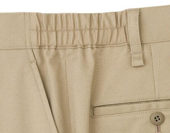 ウエスト両脇は脇ゴム仕様になっていますので、多少の余裕があり動きやすくはき着心地も快適。