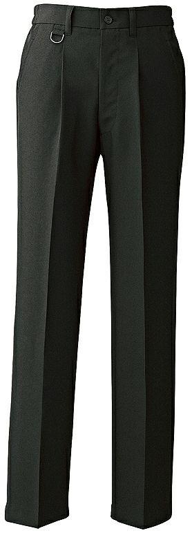 ブラック#010(裾上げ品)/【Dカン付き】メンズ黒スラックス(帯電防止。通気性。速乾性あり!)