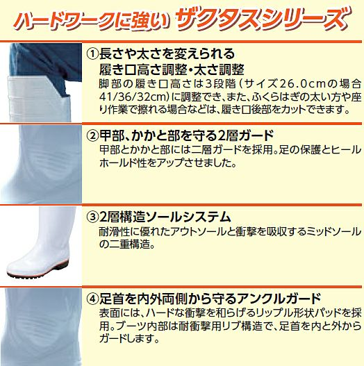 履き口の高さ・太さを調整できる説明画像です!