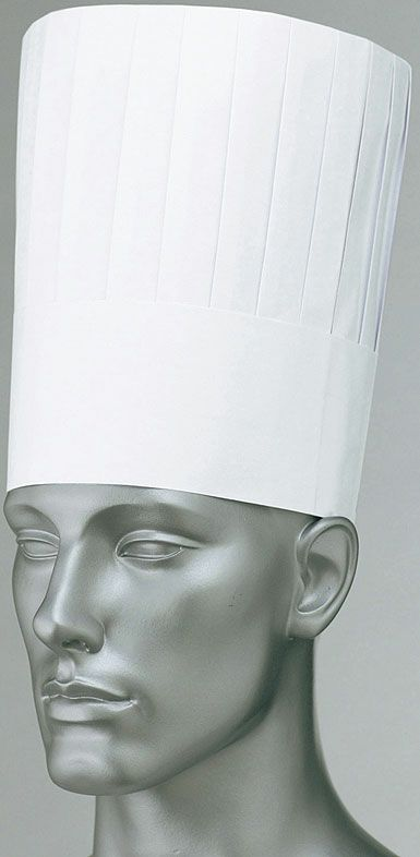 ホワイト(白色)#001/紙の使い捨て業務用コック帽