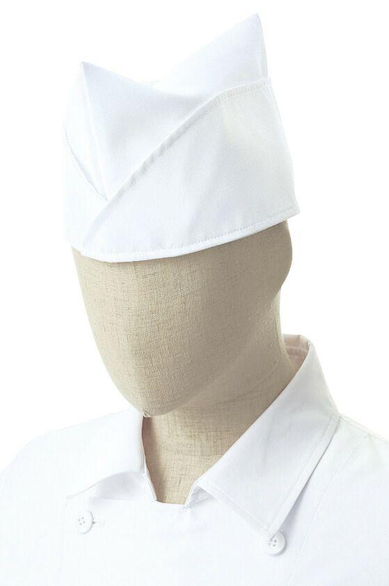 ホワイト(白色)#C1/和風な板前帽子
