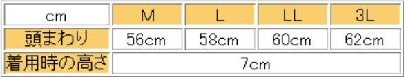 サイズ表/一般成人男性だとL、LLでちょうど。3Lで少し余裕があります。