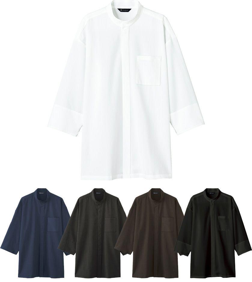 八分袖和風シャツ