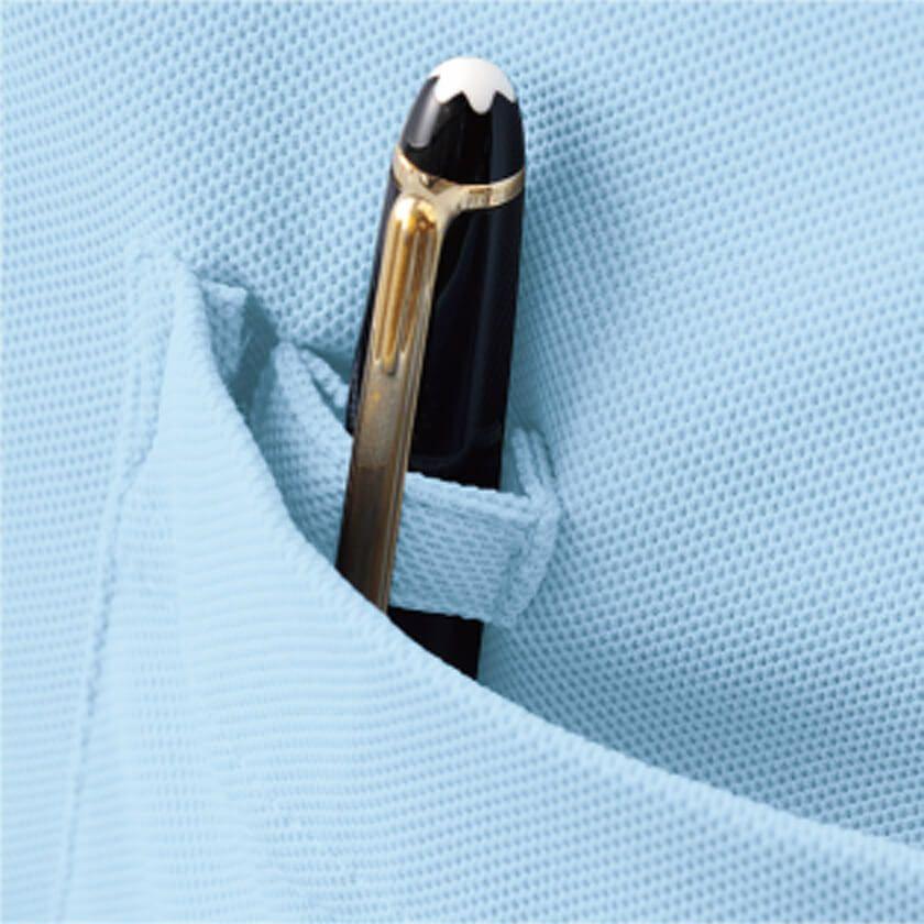 左胸のペン差しループ付きの画像