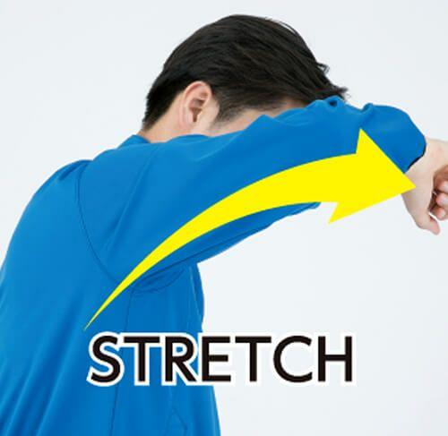 動きやすく作業しやすいストレッチ生地