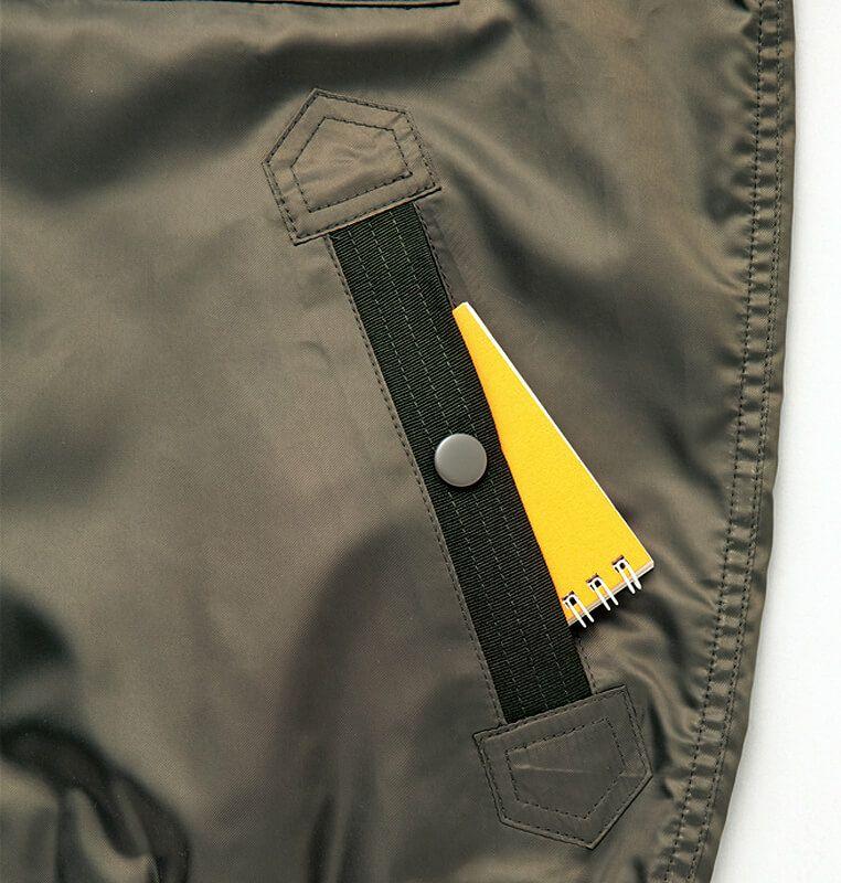 サイドのポケット部分