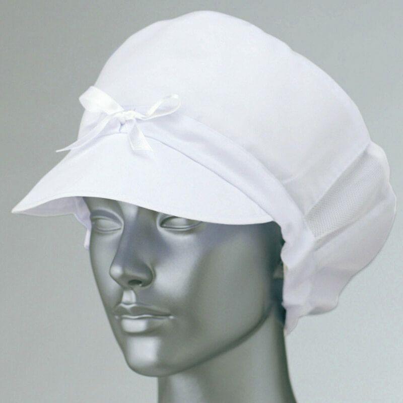 ホワイト/食品工場帽子(レディース用)