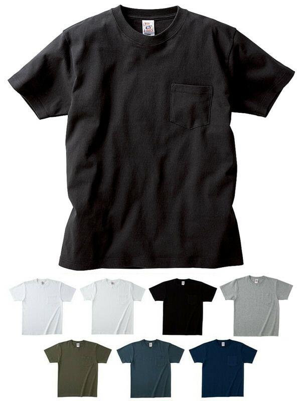 胸ポケット付き厚手Tシャツ(綿100%・6、2オンス)