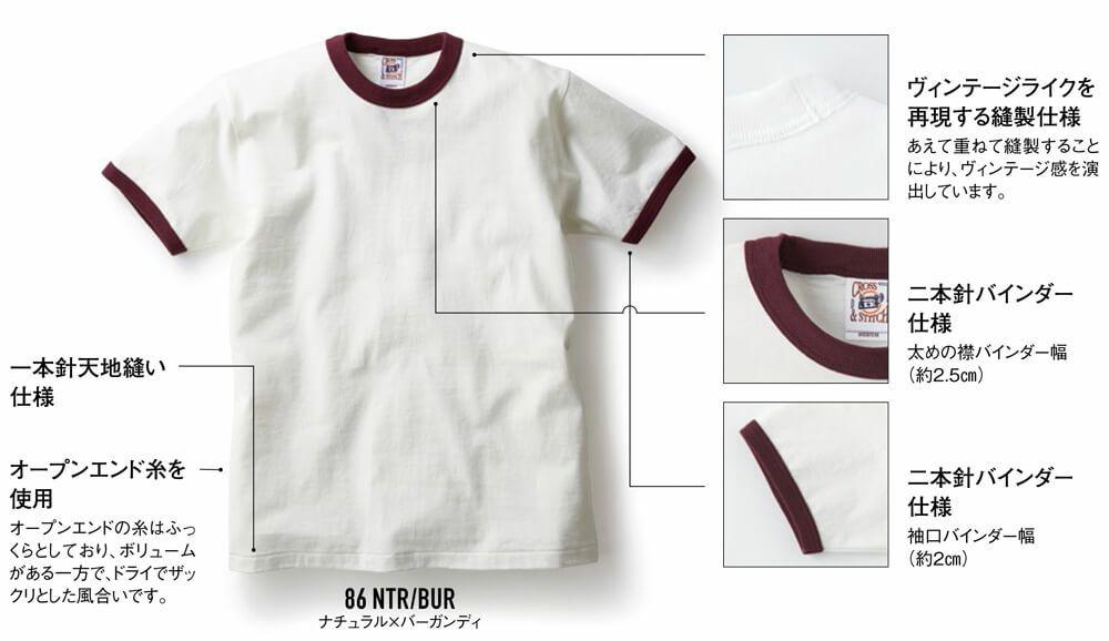 厚手リンガーTシャツ詳細