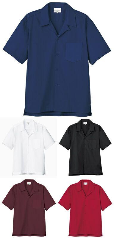 【男女兼用】半袖開襟ワイシャツ(ストレッチ)