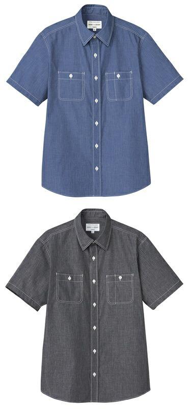 【男女兼用】半袖ダンガリーシャツ