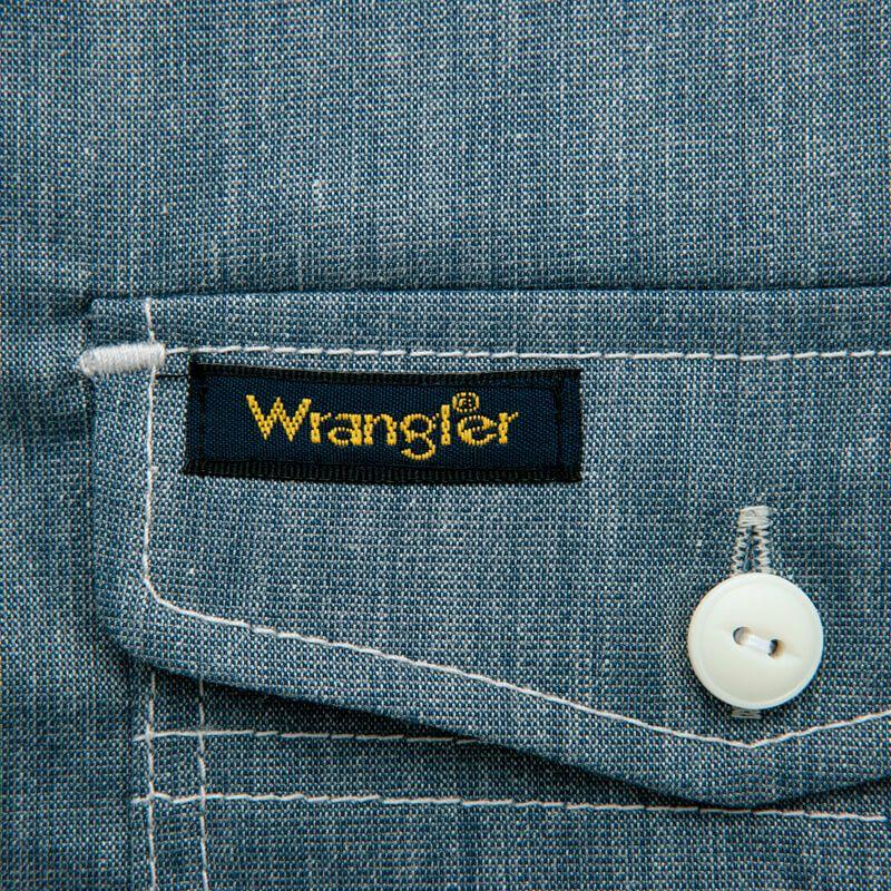 ポケット部の補強とアクセントを兼ね備えた配色カン止め