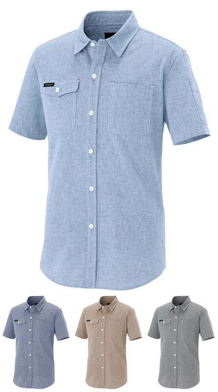 【Wrangler】半袖ダンガリーシャツ(ストレッチ)