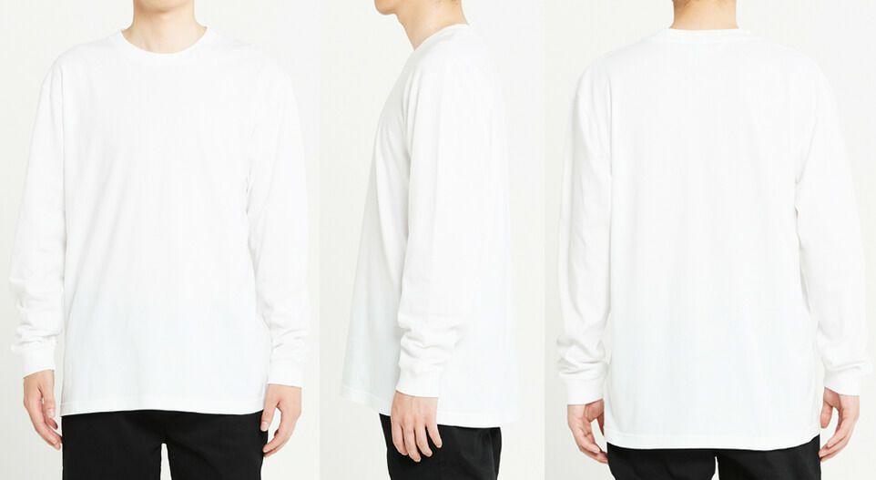 男性/身長180cm ホワイト Lサイズ着用