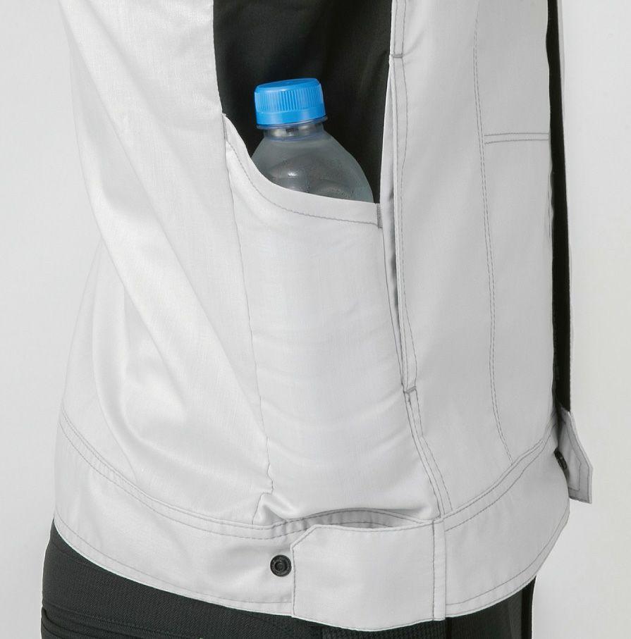 「M~5L」はペットボトルの入る脇マルチポケット※ペットボトルの形状によります。