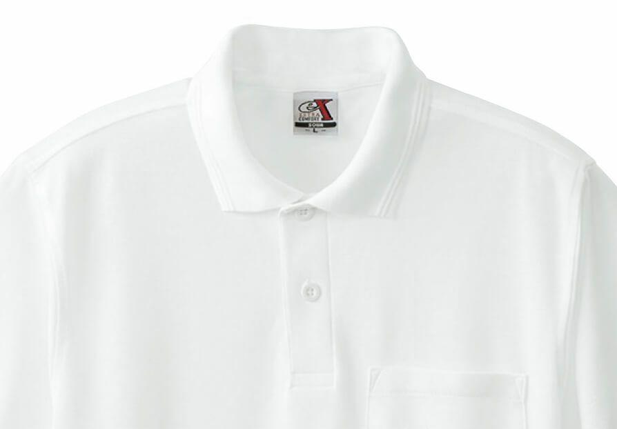 ホワイト襟元アップ画像